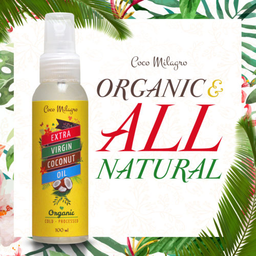 100% All natural & organic Extra Virgin Coconut Oil