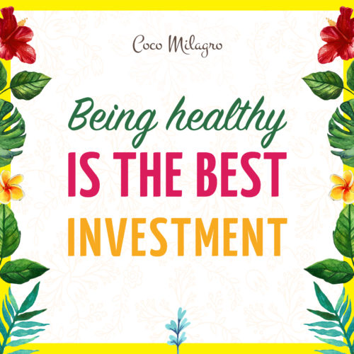 Being healthy is the best investment